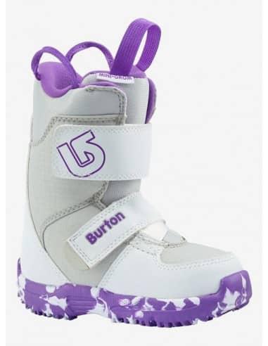 Buty Snowboardowe Buty Snowboardowe Burton MINI - GROM WHITE/PURPLE 10645102113 Burton